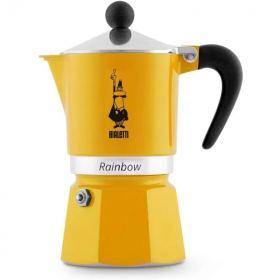 Bialetti moka rainbow espresso maker 3 cups yellow B-4982