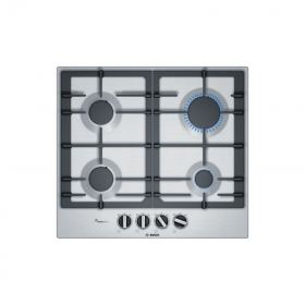 BOSCH BUILT-IN GAS HOB 4 BURNER 60 CM IRON CAST STAINLESS: PCP6A5B90M