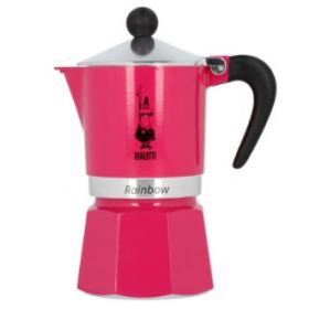 Bialetti rainbow espresso maker 3 cups fuchsia B-8609
