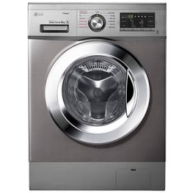 LG Washing Machine 9 Kg Direct Drive 6 Motions Steam Stone 1400rpm Silver FH4G6VDY6