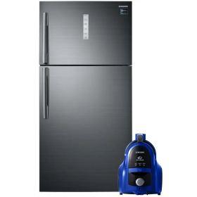 SAMSUNG REFRIGERATOR 588 LITER NO FROST DIGITAL SILVER RT58K7050BS/MR + gift Samsung Canister Bagless Vacuum Cleaner, 1800 Watt, Blue - VCC4540S36/EGT