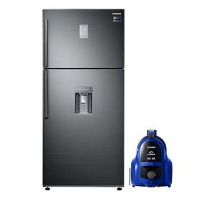 Samsung No-Frost Refrigerator, 499 Liters, Inverter Motor, Glossy Black - RT50K6540BS / MR