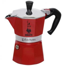 Bialetti moka rossa espresso maker 3 cups red B-4942