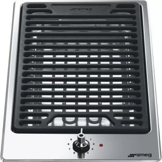 SMEG Built-in Electric Grill 30 cm Stainless Steel PGF 30 B