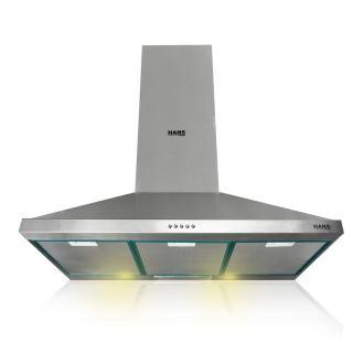 Hans Luxor hood 90 cm * 60 cm airflow 650 m3 stainless steel