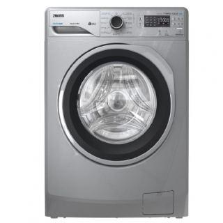 Zanussi Front Load Automatic Washing Machine TC2 , 8KG digital inverter 1200RPM silver ZWF8221SL7