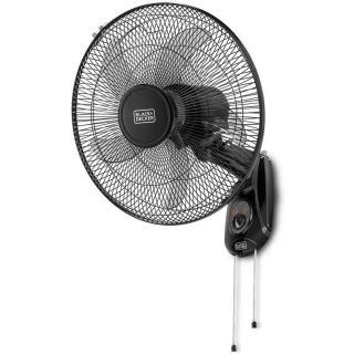 Black + Decker Wall fan - 16 inch - 3 speeds - 55 watt FW1620