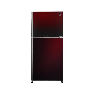 SHARP Refrigerator Inverter Digital No Frost 538 Liter , 2 Glass Doors In Red Color SJ-GV69G-RD