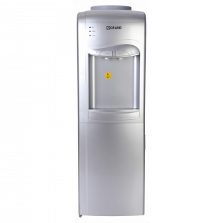 Grand - Water Dispenser Hot And Cold With Refrigerator Silver - WDQ-91-F