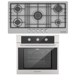 Ecomatic gas hob 92 cm stainless + gas oven 60 cm with gas grill & fan
