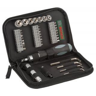 Bosch Set Of 38 Pieces Screwdriver Bit Set with Sockets and Allen Keys
