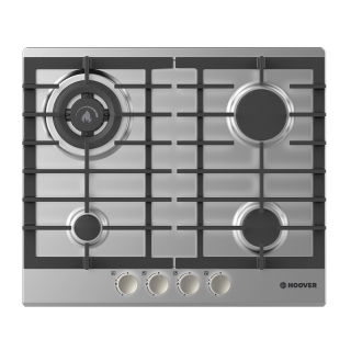 HOOVER BUILT-IN HOB 60 CM 4 GAS BURNERS IN STAINLESS STEEL COLOR HGH64SDWCEX