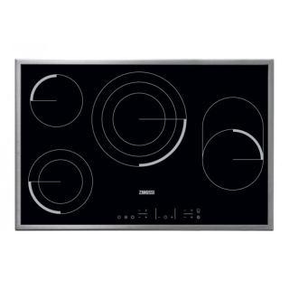 Zanussi ZEV8648XBA Touch-Control Electric Ceramic Glass Built-In Cooker Hob - 80 cm, Black