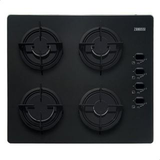 Zanussi ZGO62414BA Gas Built-In Hot Plate with 4 Knobs - Black