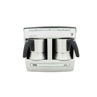 Beko Turkish Coffee Machine with Double Pot, Silver - BKK 2113