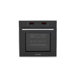 Ecomatic 60cm electric oven + electric grill + distributing heat fan - Black crystal digital 9 functions E6449 GTX