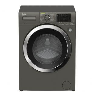 Beko Washing Machine Digital Inverter Steam 1400 RPM 10 kg Grey Model-WTE 10736 CHT