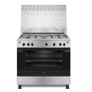 Zanussi ZCG91016XA Gas Cooker with 5 Burners, 90 cm - Silver