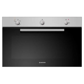 HOOVER Built-In Oven Gas 90 x 60 cm 93 Liter In Stainless Steel x Black Color With Gas Grill HGG93