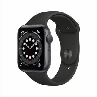 APPLE WATCH SERIES 6 GPS 44MM SPACE GRAY ALUMINIUM CASE WITH BLACK SPORT BAND M00H3AE/A