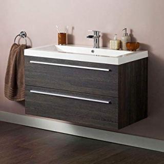 Wall mounted bathroom sink cabinet 80cm+Duravit sink 85cm