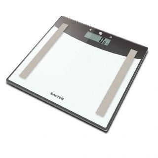 Salter Glass Body Analyser Bathroom Digital Scales 9137 SVWH3R