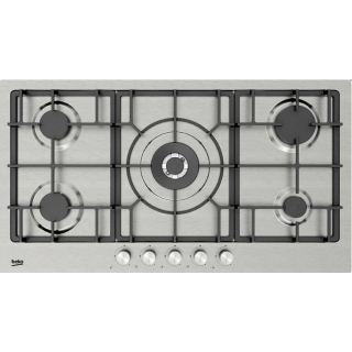 Beko Built in Stainless-Cast Iron Gas Hob – 90 cm HIMW 95226 SXEL