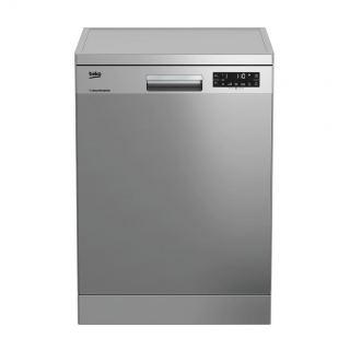 Beko Freestanding Dishwasher, 15 Places Setting 8 programs, Silver - DFN28520X