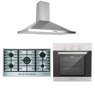 Ecomatic Built in gas hob 90 cm + Built in gas oven 60 cm with fan + Built in hood 90 cm