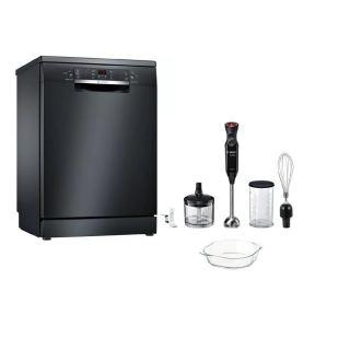 Bosch Free Standing Dishwasher 13 Set 60 cm Digital Black with 3 shelves SMS6NB01B