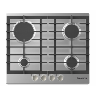 HOOVER BUILT-IN HOB GAS 60 CM 4 BURNERS STAINLESS HGH64SCEX