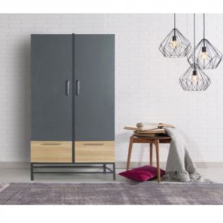 Wardrobe  kt-184   gray & beige
