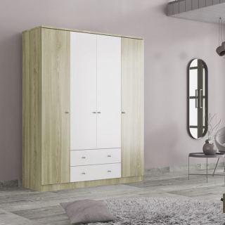 Wardrobe  kt-205 white & biege