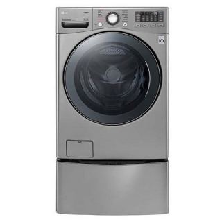 LG TWINWASH 18KG WITH DRYER 10KG STEAM 1100 RPM STAINLESS + 3.5KG LOWER TWINWASH FT022K2SS