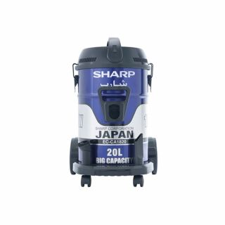 SHARP Pail Can Vacuum Cleaner 1800 Watt In Blue Color With Cloth Filter EC-CA1820-X