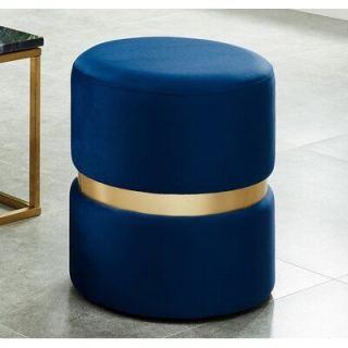 Medium cylindrical stainless steel puff ar1090