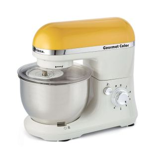 Ariete Gourmet Stand Mixer, 1000 Watt, 4 Liter, White \ Yellow - 1594
