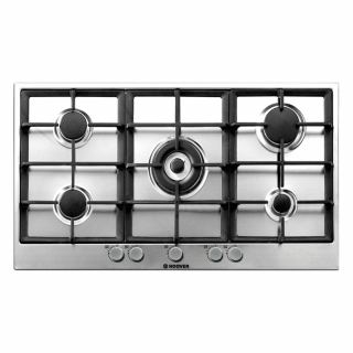 HOOVER Built-In Hob 90 x 60 cm 5 Gas Burners In Stainless Steel Color HG953/1SXGH