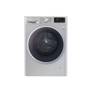 LG WASHING MACHINE 8 KG 1400 RPM WITH STEAM DIRECT DRIVE 6 MOTIONS SILVER F4R5TYGSL