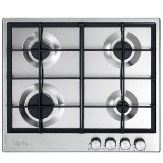 ELBA Gas hob , 60 cm,stainless steel ,4 burners, front control,,cast iron supports, full safety, self ignition. Elio 65-445 R