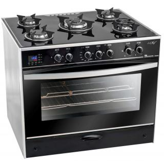 UNIONAIR COOKER ICHEF 90*60 CM 5 BURNERS GLASS TOP WITH FAN SAFETY ALUMINIUM: C6090GS-AC-383-IDSH