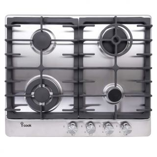 i-Cook 4 Burners Gas Built-In Hob, Stainless Steel, 60 cm - BH5060S-8-IS
