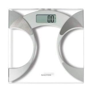 Salter  Glass Body Fat Analyser Bathroom Scale , Silver 9141WH3R