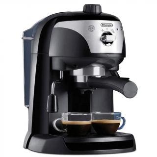 Delonghi Pump Espresso and Coffee Machine, Black - EC221