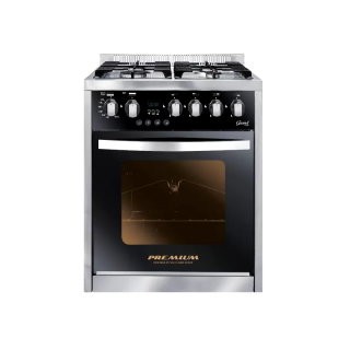PREMIUM GRAND CHEF GAS COOKER 4 BURNERS STAINLESS STEEL*BLACK PRM6060SS-1GC-511-IDSP-GO