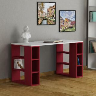 office table  unit  MK_103_White+red