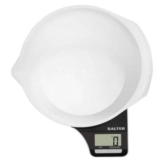 SALTER scales 5kg digital screen 1.25 litre S-1089 BKWHDR