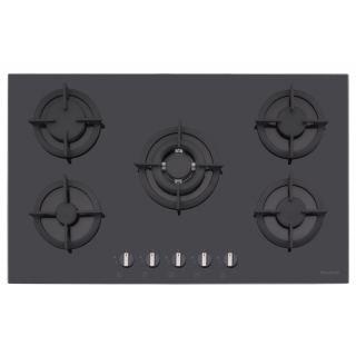 Dominox Hob Built-In 90Cm 5 Burners Glass Black DHG 905 4G TC BK