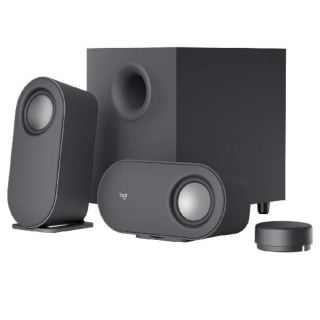 Logitech Z407 Bluetooth Computer Speakers with Subwoofer and Wireless Control, Immersive Sound, Premium Audio with Multiple Inputs, USB Speakers