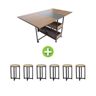 Artistico Modern Dining Table + 6 Chairs